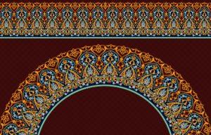 دانلود وکتور حاشیه و قاب « تذهیب اسلیمی سنتی »