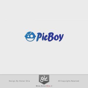 "طراحی لوگو سایت "" پیک بوی | pic boy """